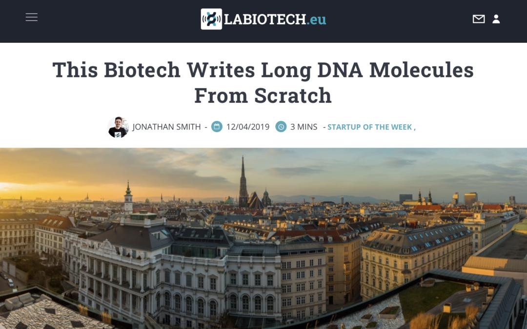 Ribbon Biolabs is 'Startup of the Week' in LABIOTECH.eu